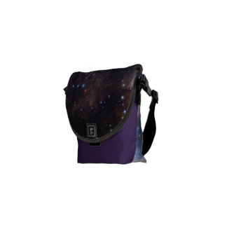 Personalized Colorful Fireworks Hubble Space Bag Courier Bag
