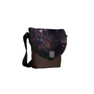 Personalized Colorful Fireworks Hubble Space Bag Courier Bags