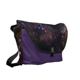 Personalized Colorful Fireworks Hubble Space Bag Messenger Bags