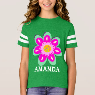 Personalized colorful flower T-Shirt