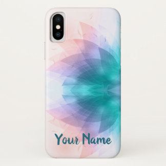 Personalized Colorful Lotus Flower iPhone X Case