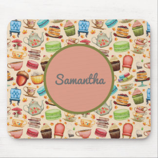 Personalized Colorful Party Theme Cupcakes Teapots Mouse Pad