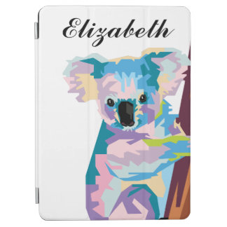 Personalized Colorful Pop Art Koala iPad Air Cover