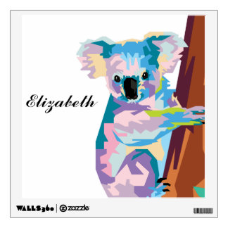 Personalized Colorful Pop Art Koala Wall Sticker