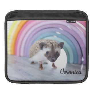 Personalized Colorfully Tiny Hedgehog iPad Sleeve