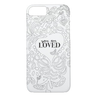 Personalized Coloring Page Inspired -You are Loved Case-Mate iPhone Case