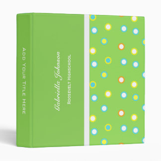 Personalized:  Colour O's Binder 1