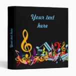 Personalized Colourful Jumbled Music Notes on