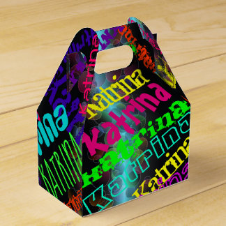 Personalized  Colourful Neon Lights Favour Box
