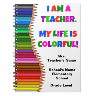 Personalized Colourful Teacher Notebook