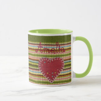 Personalized Combo Mug with Knitted Pattern