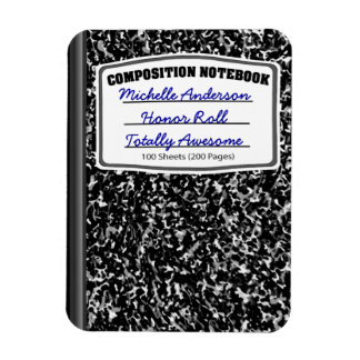 Personalized Composition Notebook Magnet