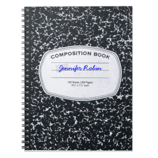 Personalized Composition Style Notebook
