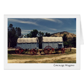 Personalized Conestoga Wagons greeting card