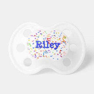 Personalized Confetti Newborn Baby Pacifier