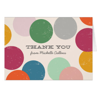 Personalized | Confetti Thank You Card