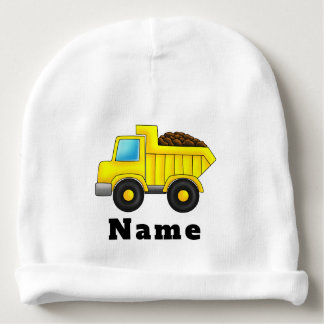 Personalized Construction truck car Baby Beanie