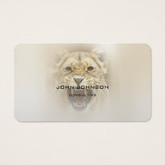 Personalized Consulting Lion Business Cart Business Card