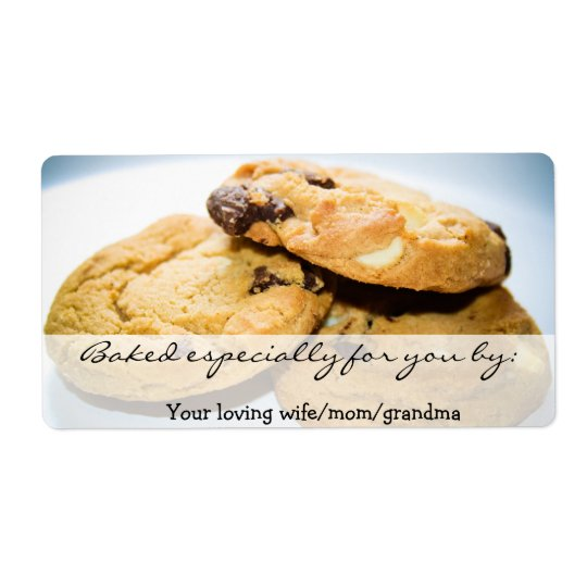 Personalized Cookie Label