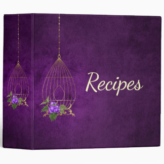 Personalized Cooking Purple Recipe Binder