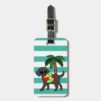 Personalized Cool Black Labrador Sunglasses Luggage Tag