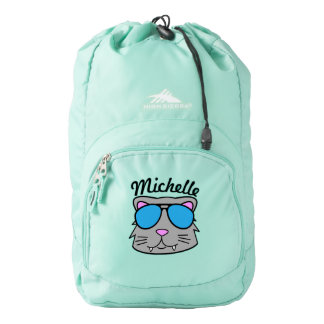 Personalized Cool Cat Backpack