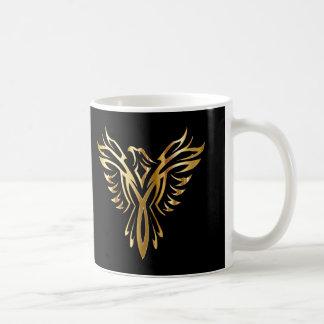 Personalized Cool Gold Phoenix Coffee Mug
