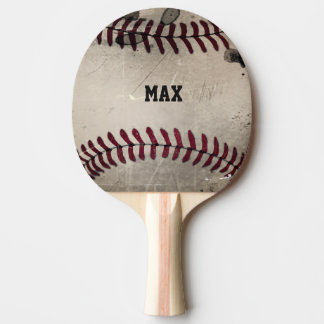Personalized Cool Grunge Baseball Ping Pong Paddle