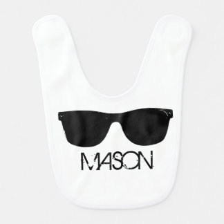 Personalized Cool Kid Sunglasses Bib