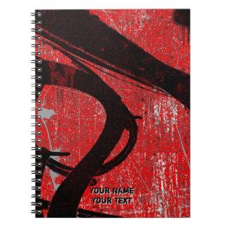 Personalized Cool Urban Red Graffiti Notebook