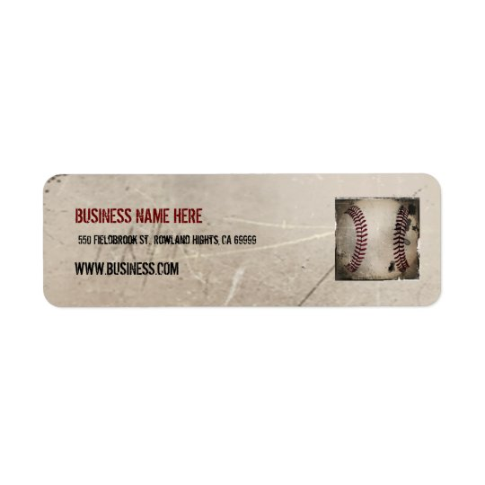 Personalized Cool Vintage Grunge Baseball Return Address Label