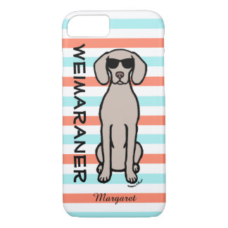 Personalized Cool Weimaraner iPhone 7 Case