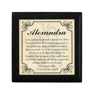 Personalized Corinthians Love Bible Verse Trinket Gift Box