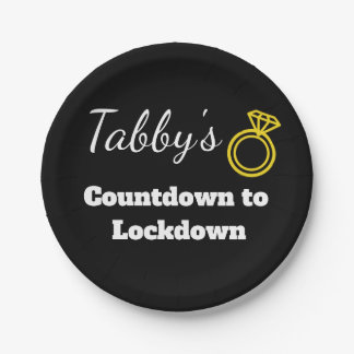 Personalized Countdown to Lockdown Plate