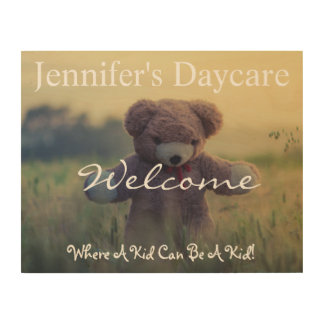 Personalized Country Daycare Welcome Sign Wood Print