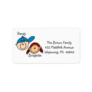 Personalized Couple Address Labels