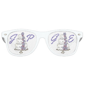 Personalized Couple Initials Wedding Cake Favors Sunglasses
