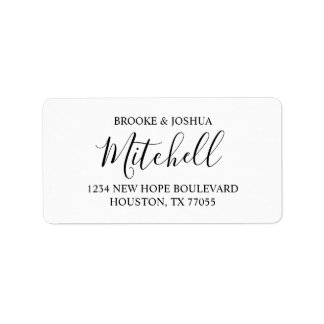 Personalized Couple Return Address Labels