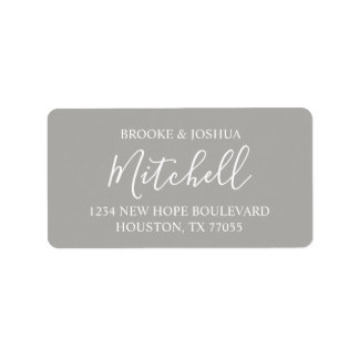 Personalized Couple Return Address Labels | Grey
