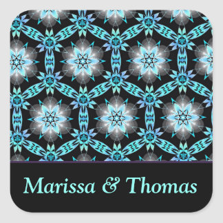 Personalized couple Square Stickers