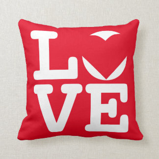Personalized Couples Chic Red Love Heart Pillow