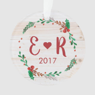 Personalized Couple's Initials Acrylic Ornament