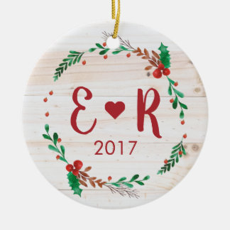 Personalized Couple's Initials Ornament