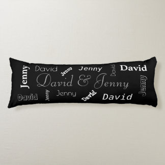 Personalized Couples Name Body Pillow