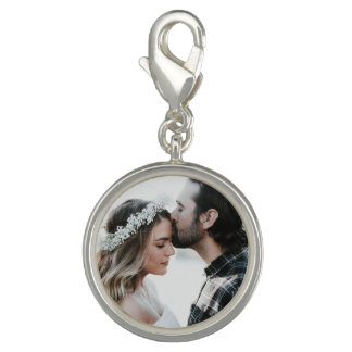 Personalized Couple's Photo Charm Silver
