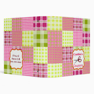 Personalized Coupon Organizer - Patchwork Binder