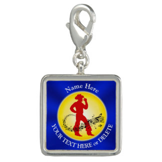 Personalized Cowboy Gifts, Music Cowboy Line Dance Photo Charms
