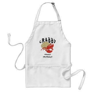 Personalized Crabby New Baby Gift Adult Apron