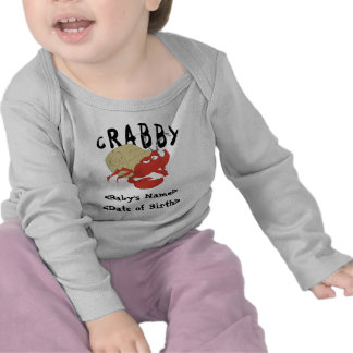 Personalized Crabby New Baby T-Shirt T-shirts