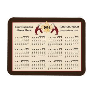 Personalized Crawfish Fleur de Lis 2014 Calendar Vinyl Magnet